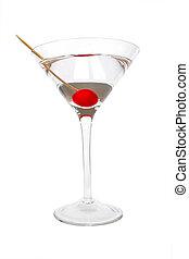 Maraschino Martini - Isolaotaed martini with maraschino...