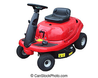 Ride on lawn mower - isolated