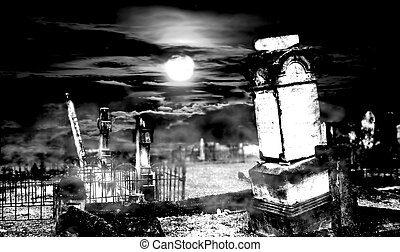 Haunting - Cemetery digitally altered to remove background....