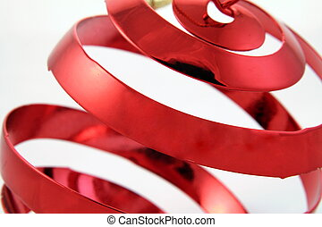 Christmas Twist - Red Christmas ornament.
