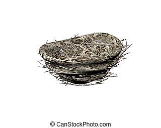 Bird Nest - Isolated render of a birds nest
