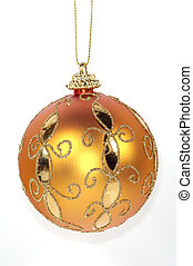Orange Christmas Ornament - Isolated Orange Christmas...