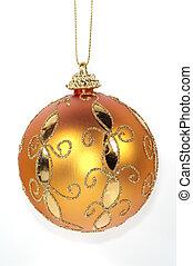 Orange Christmas Ornament - Isolated Orange Christmas...