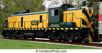 Engine - Brightly colored train engine