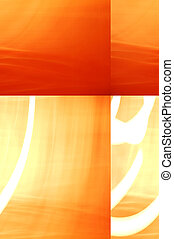 Orange and Yellow Abstract - Orange, red, yellow and white...