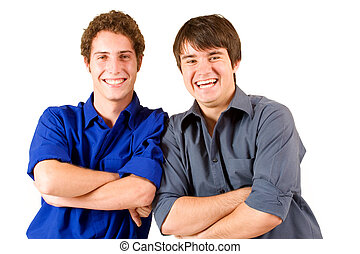 Business People 14 - Two business partners leaning on each...
