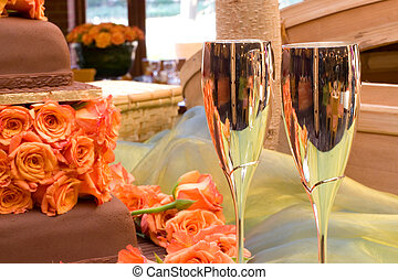 Wang Thai #13 - Table with champagne glasses and wedding...