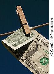 laundered money - folded laundered money