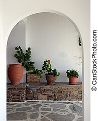 Cycladic interior - Cycladic architecture detail - interrior...