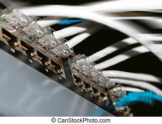 Cat5 Connectors - Ethernet Hub with Cat5 Connectors