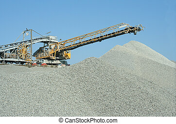 quarry - heavy duty machine at a stonequarry.