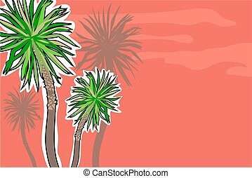 palm trees - with background space