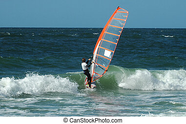 Windsurfer 6 - Windsurfer in the waves