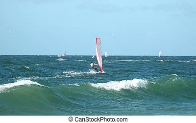 Windsurfer 11 - Windsurfer in the north sea