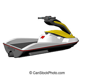 Jet Ski - Isolated Jet ski