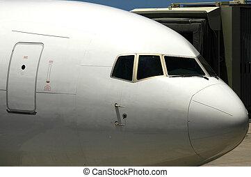 Jet Cockpit - A jet in for refueling