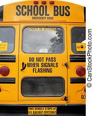 escuela, autobuses