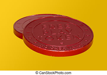 Tokens - Red Free Play Tokens