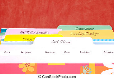 Card Index - Greeting Card Organizer