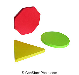 Geometric Shapes - Sticky note pad geometric shapes isolated...