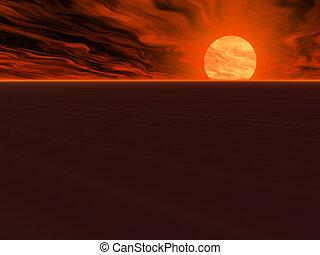 Blazing Desert Skies