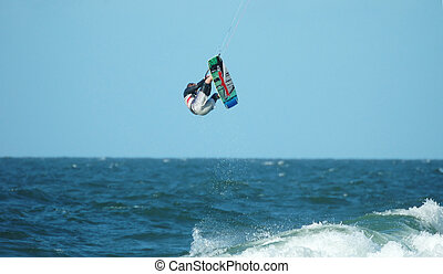 Kite Surfer 4 - Kite Surfer jumping high