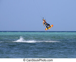 Kite surfer 1 - Kite surfer, Boracay, Philippines