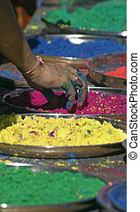Colored Powders - Part of the Inidan Festival, Holi...