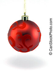 Christmas Ornament - A Hanging Christmas Ornament Isolated...