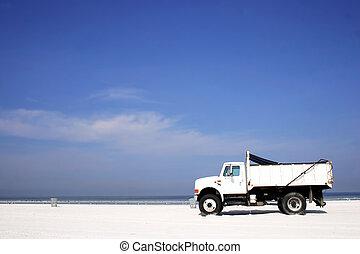 praia, caminhão