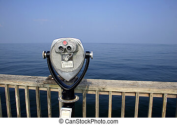 Ocean View - Telescope at the end of a pier