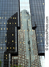 Hilton Reflection - reflection of Hilton Hotel in downtown...