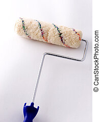 paint roller - an isolated paint roller
