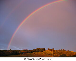Sunset rainbow - Dunedin, NZ