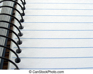 Blank note book pages.