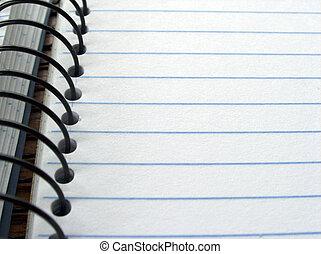 em branco, nota, livro, Páginas