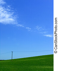 grön, kulle