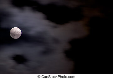 cloudy full moon - full moon covered in clouds