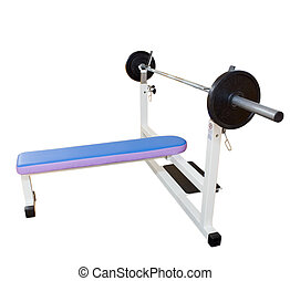 body building bench - body building equipment, isolated on...