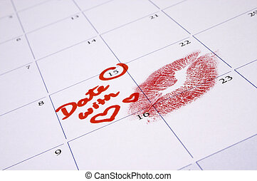 A Special Date! - An appointment with a loved one marked in...