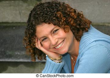 Pretty smile - Pretty tunisian girl smiling