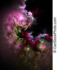 the black hole - abstract fractal background created with...