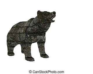 Block Bear - Stone bear of blocks