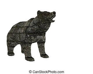 Block Bear - Stone bear of blocks