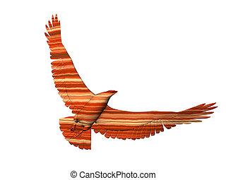 Desert Eagle - Isolated striped Eagle