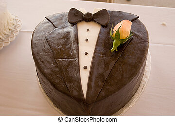 grooms wedding cake - a cake for the groom