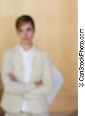 buisness focus - business woman out of focus