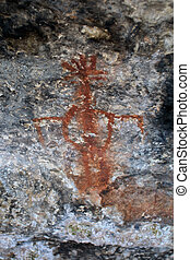 Pictograph - Cave Spring Pictograph at Canyonlands National...