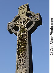 Celtic Cross - Celtic cross in Glendalough which is part of...