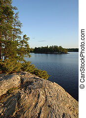 McManus Island at Sunset - Voyageurs National Park,...
